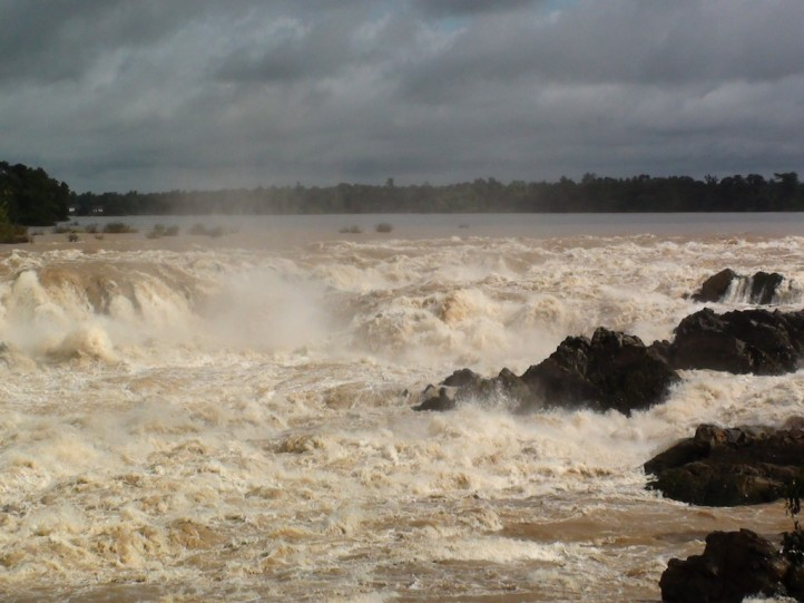 The Khone Prapeng Falls in southern Laos; photo by  Tom Fawthrop