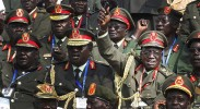 Generals celebrate on South Sudan's independence day. (Photo: Steve Evans / Flickr Commons)