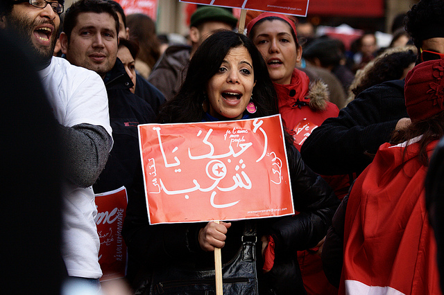 Arab Spring protest in Paris, 2011. (Photo: Gwenael Piaser / Flickr)