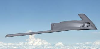 Boeing's idea of what the long-range strike bomber might look like. (Image: Boeing)