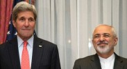 Chief nuclear negotiators U.S. Secretary of State John Kerry and Iran Foreign Minister Javad Zarif. (Photo: Yahoo News)