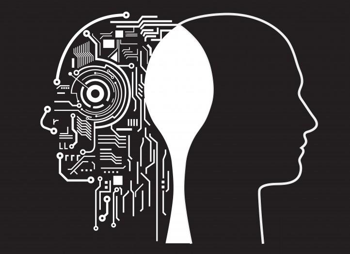 illustration of mechanics in silhouette of head