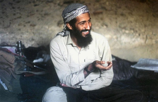 The truth about how Osama bin Laden was located in Abbottabad may lie between the U.S. government's account and Seymour Hersh's. Pictured: bin Laden in his happy cave days. (Photo: The Telegraph)