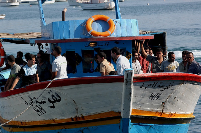 Migrant ship that actually arrived on Lampedusa in 2007. (Photo: Noborder Network / Flickr Commons)