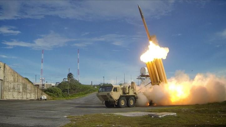 A test of THAAD interceptors