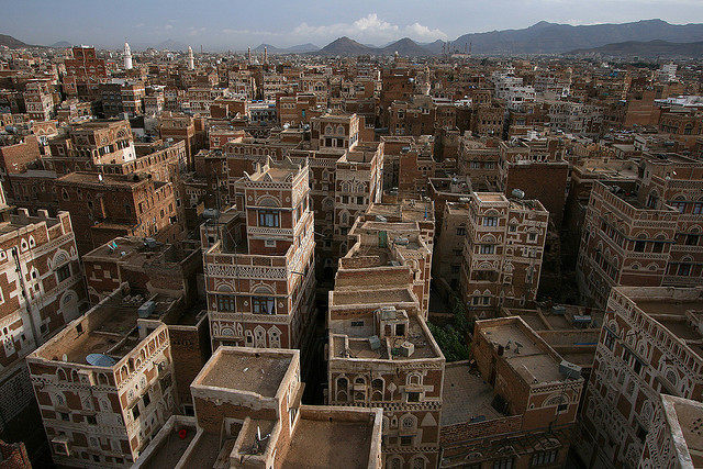 Yemen is a battleground, the site of what aid organizations say is a human catastrophe. Pictured: Old Sanaa. (Photo: Richard Messenger / Flickr Commons)