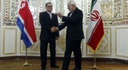 Foreign Minister Ri Su-yong of North Korea meets with Foreign Minister Javad Zarif of Iran