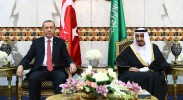 President Erdogan and King Salman meet in Riyadh to discuss Syria. Photo: NRT TV