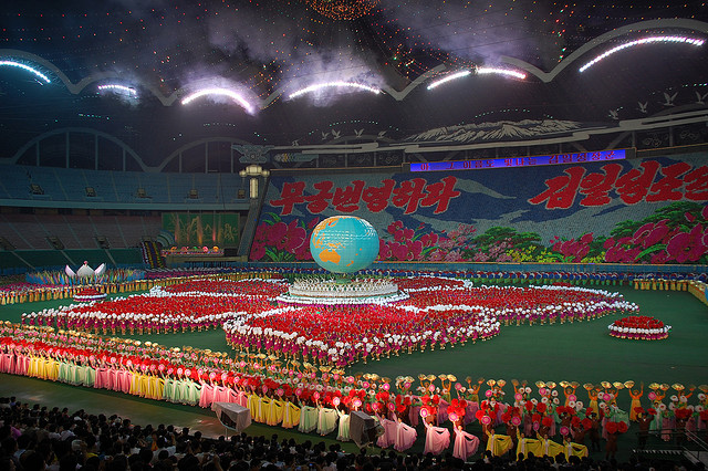 Governments, such as that of North Korea, based on terror against their own people, have a planned obsolescence. Pictured: the Arirang mass games. (Photo:  Stephan / Flickr Commons )
