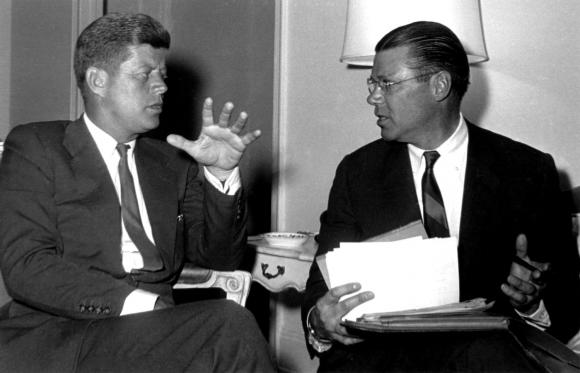 President John F. Kennedy and his Secretary of Defense Robert McNamara tried to create a nuclear policy more flexible than the initial U.S. policy of massive retaliation. (Photo: AlternateHistory.com)