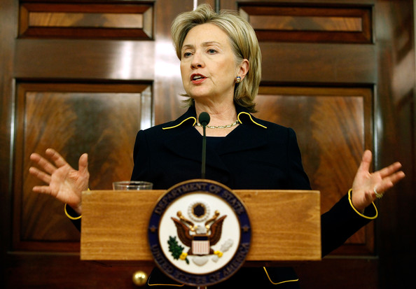 Clinton boasts of foreign-policy experience without owning up to how rich in failures and disastrous wars U.S. foreign policy has been in recent years. (Photo: Zimbio)