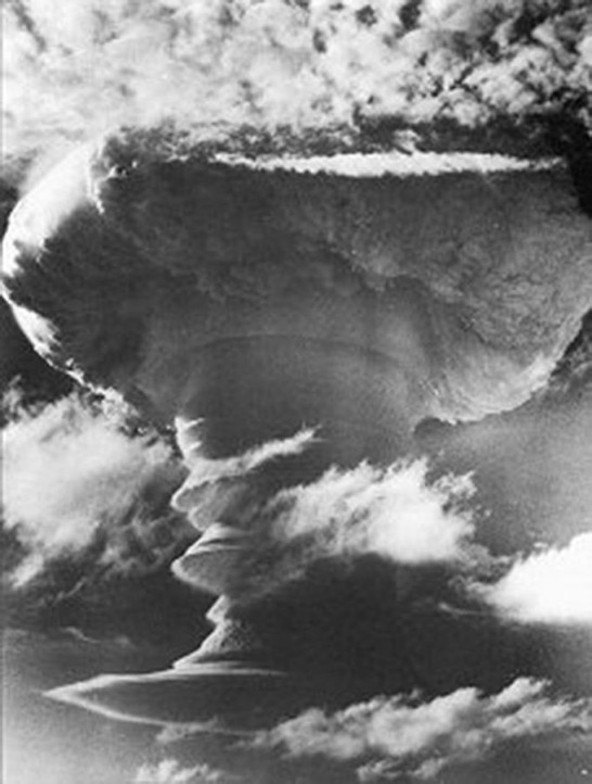 Not only did Russia respond to American development of the H-bomb by developing its own, so did other countries. Pictured: British thermonuclear bomb test. (Photo: RAF)