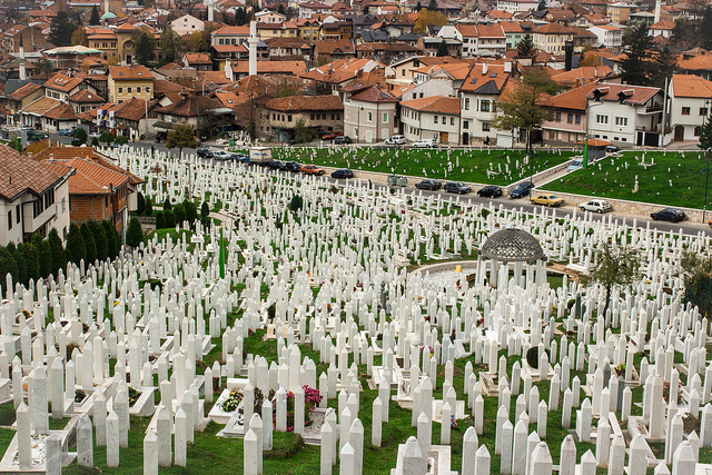 Nothing new about Islamophobia in Europe. Pictured: Muslim war cemetery, Sarajevo. (Photo: Ivana Vasilj / Flickr Commons)