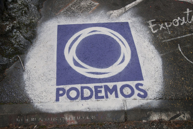 Spain's left-wing Podemos party made impressive gains in the Spanish election. (Photo: Thierry Ehrmann / Flickr Commons)