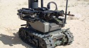 The use of robots in combat will be accompanied by a lengthy learning curve — and, likely, many civilian casualties. (Pictured: Modular Advanced Armed Robotic System (MAARS) / popsci.com)