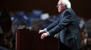 bernie-sanders-thinking-podium