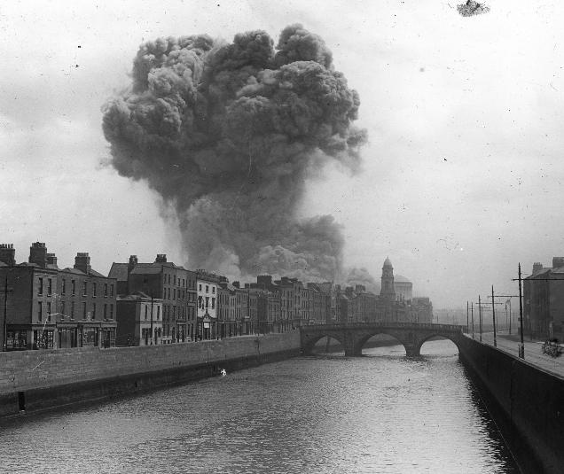 How many Western leaders are honestly interested in terrorists' motives? Pictured: bombing in the Irish Civil War. (Photo: Public Domain)