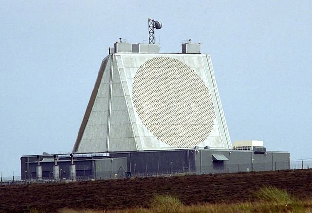 "Missile defense is as much of a boondoggle as it was during the days of Ronald Reagan's ""Star Wars."" Pictured: the Phased Array Ballistic Missile Early Warning System (Photo: Wikipedia)"