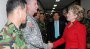 Hillary Clinton has a genuine fondness for our troops. (Photo: incom.korea.army.mil / Flickr Commons)
