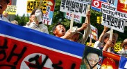 Pictured: South Koreans protesting against North Korea. (Photo: Woohae CHO / Flickr Commons)