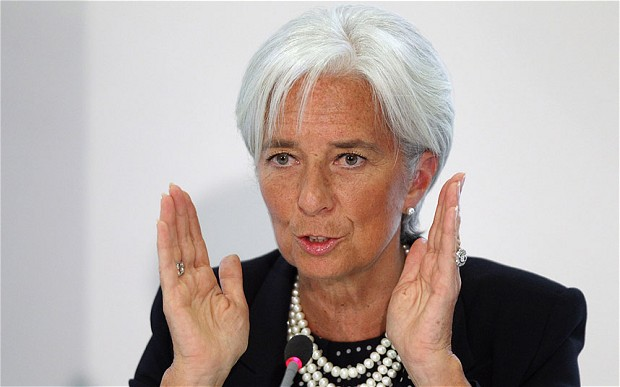 The IMF finally acknowledged that neoliberalism's boom-and-bust cycles stifle growth in developing countries. Pictured: IMF chief Christine Lagarde. (Photo: the Telegraph)