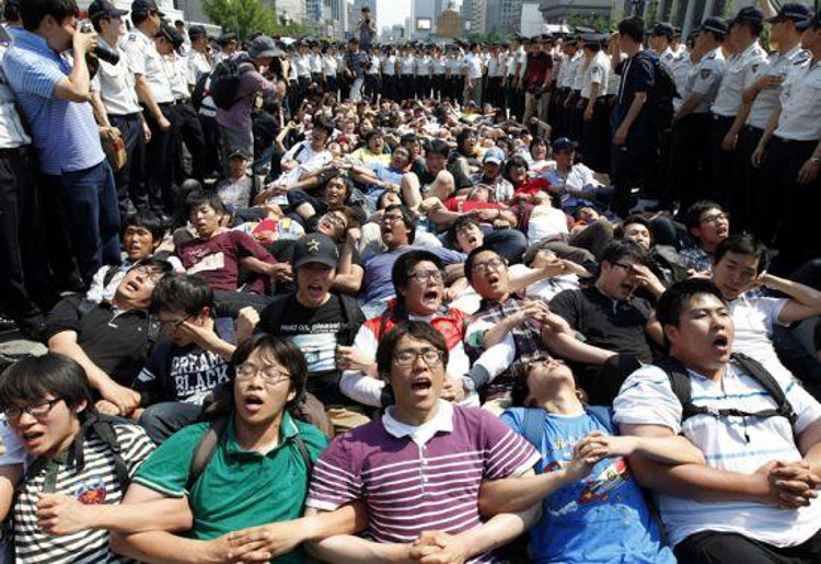 Words of Warning and Encouragement to South Korean Student Protesters