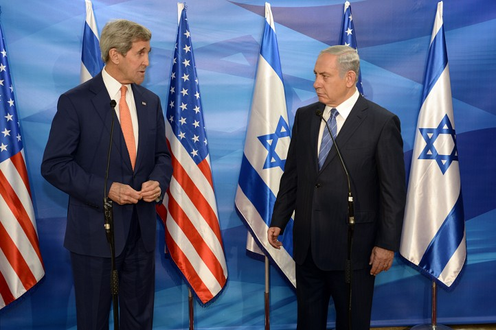 U.S. Secretary of State J. Kerry meeting with PM Benjamin Netanyahu at the PM's office. Jerusalem November24, 2015