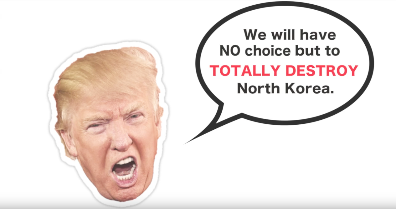 VIDEO: The Greatest Threat to Both Koreas? Donald Trump's Mouth.