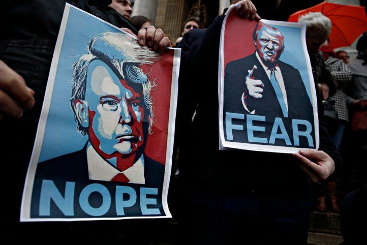 donald-trump-protest-war-iran-north-korea